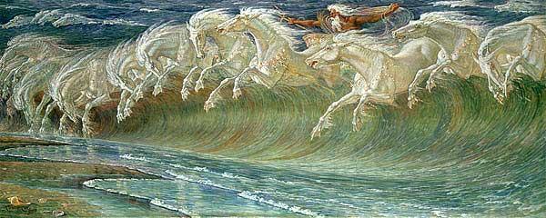 Neptune's Horses by Walter Crane. Exhibited in 1893
